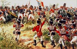 Royal Fusiliers at Martinique in 1809 by Simkin